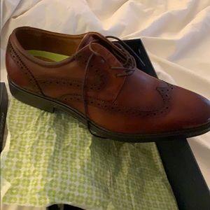 Brown leather florisheim dress shoe.